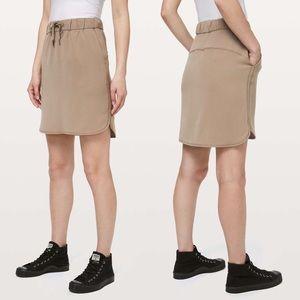 Lululemon On the Fly Skirt in Tan
